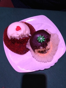 Vanilla & Chocolate. Red Velvet. The most amazing cupcakes we've ever had in our lives.